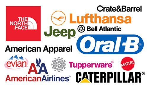Логотипы с использованием шрифта Helvetica